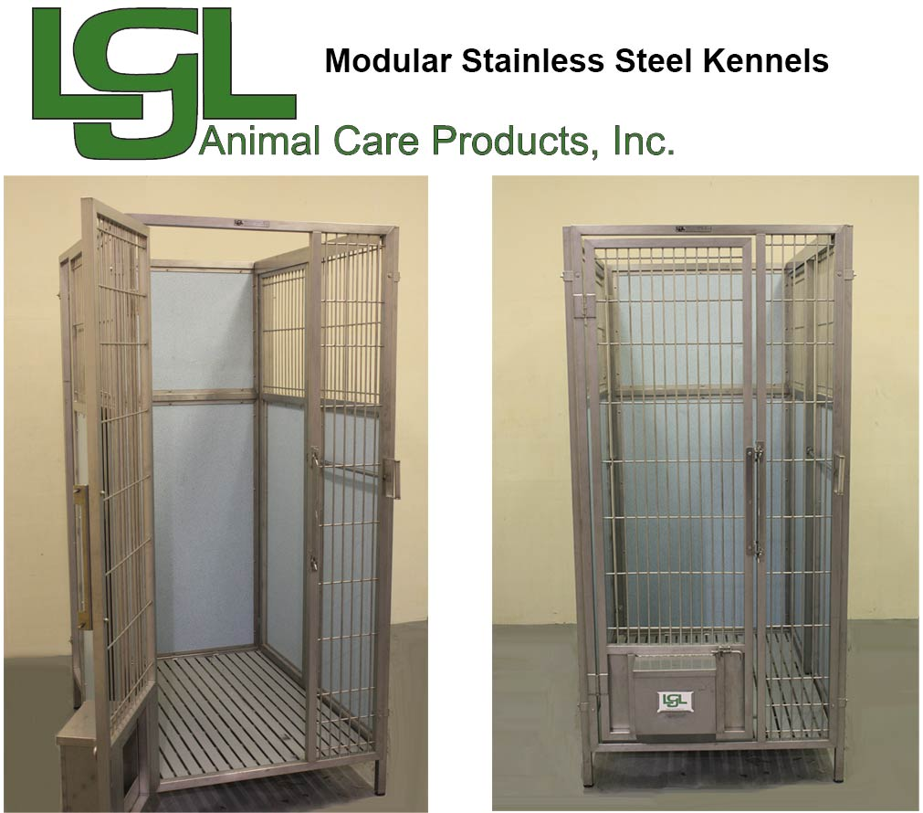 modular stainless steel kennel