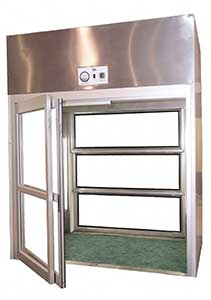 aluminum breakaway door isolation cubicle